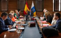 Instantánea de la reunión del Consejo de Gobierno de Canarias de este lunes.