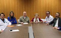 Reunión de los profesionales que han formalizado el acuerdo