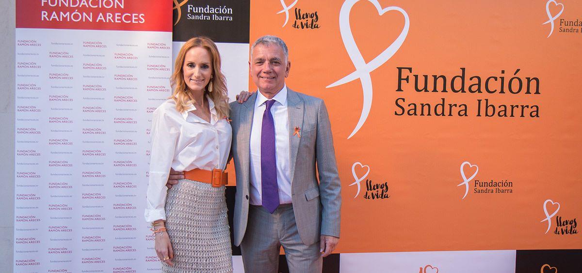 Sandra Ibarra y Juan Ramón Lucas en el X aniversario de la Fundación Sandra Ibarra contra el cáncer