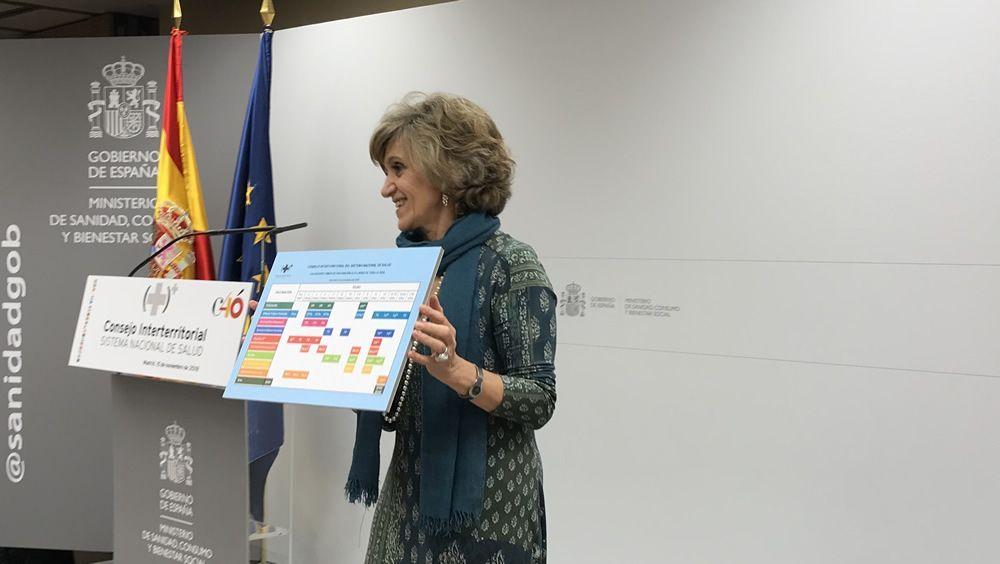 María Luisa Carcedo presenta el nuevo calendario vacunal único tras su aprobación en el Interterritorial
