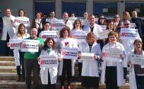 Médicos protestando en Málaga