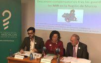 Representantes del Colegio de Médicos de la Región de Murcia durante la presentación del estudio sobre las condiciones laborales de los MIR en la Región.