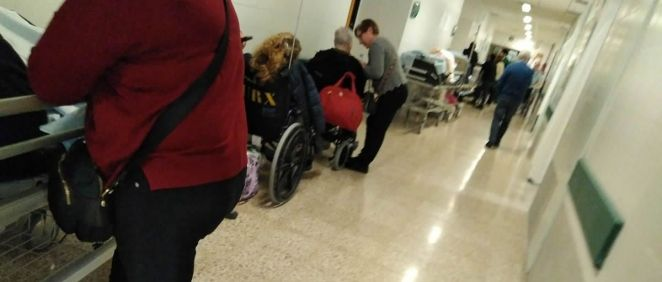 Imágenes de pacientes en las urgencias del Hospital Clínico, centro sanitario principal del Complejo Hospitalario Universitario de Santiago (CHUS).