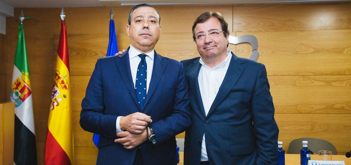 De izquierda a derecha: Óscar Castro Reino y Guillermo Fernández Vara