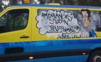 Imagen de una de las ambulancias saboteadas durante la huelga del sector.
