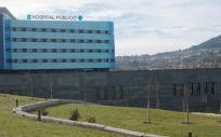 """Una simulación del nuevo rótulo de """"hospital público"""" en el Álvaro Cunqueiro de Vigo, incluida en los pliegos del contrato."""