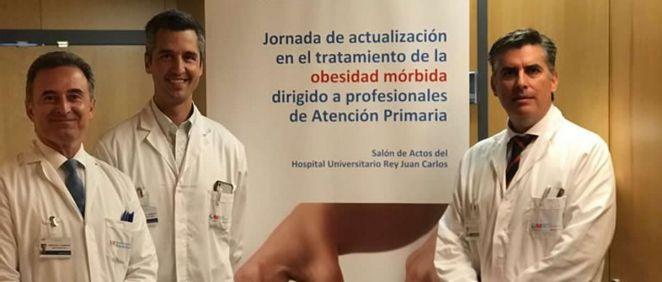 Los doctores Castellón Pavón, Ferrigni González y García Muñoz Najar