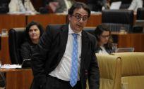 El consejero de Sanidad, José María Vergeles, durante una intervención en la Asamblea de Extremadura
