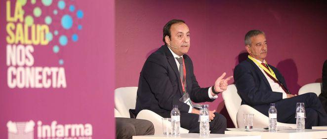 El presidente del Grupo Cofares, Eduardo Pastor, durante su intervención