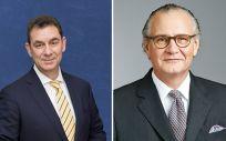 Albert Bourla, CEO de Pfizer; y Stefan Oschmann, CEO de Merck