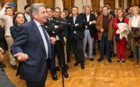 El presidente de Cantabria, Miguel Ángel Revilla, durante su intervención | Foto: Raúl Lucio