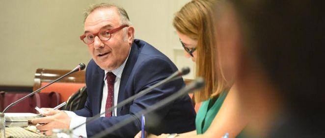 El consejero de Sanidad de Canarias, José Manuel Baltar, en comisión parlamentaria