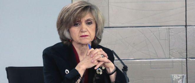 María Luisa Carcedo, ministra de Sanidad, tras el pasado Consejo de Ministros.