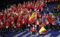Desfile de inaguración de los Juegos Paralímpicos de Londres 2012, con la nadadora Teresa Perales como abanderada | Foto: Comité Paralímpico Español
