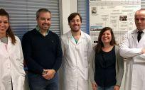 Los investigadores del CHUS CIBERCV María Cebro, Ricardo Lage, Moisés Rodríguez, Isabel Moscoso y Jose Ramón González Juanatey