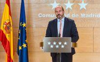 El vicepresidente de la Comunidad de Madrid, Pedro Rollán.