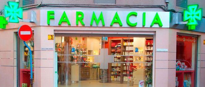 Fachada de una oficina de farmacia