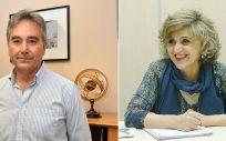 Manuel Cascos, presidente de Satse y María Luisa Carcedo, ministra de Sanidad