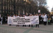 Una de las movilizaciones del Sindicato Médico de Navarra (SMN). (Foto. Sindicato Médico de Navarra)