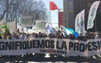Imagen de la manifestación de los médicos de todo el país celebrada el pasado mes de marzo a las puertas del Ministerio de Sanidad en Madrid.