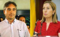 Manuel Cascos, presidente de Satse, y Ana Pastor, presidenta del Congreso de los Diputados.