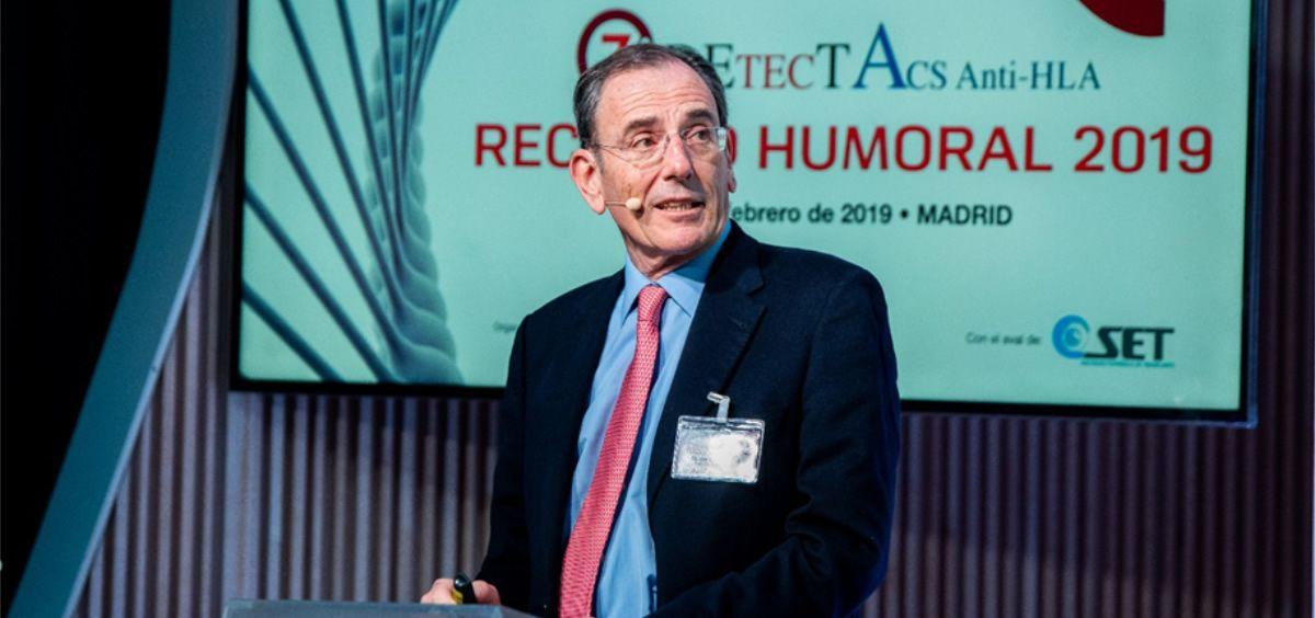 Daniel Serón, jefe del Servicio de Nefrología del Hospital Vall d'Hebron de Barcelona, en un momento de su intervención durante la séptima edición de la reunión DETECTA