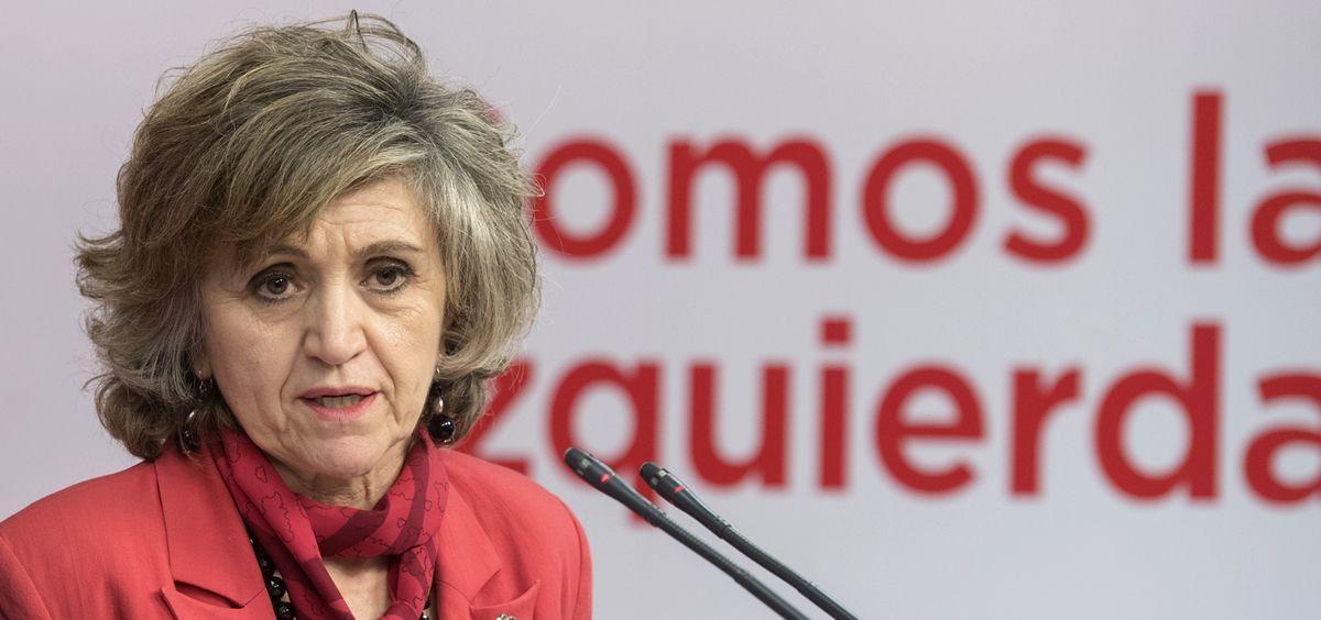 María Luisa Carcedo, ministra de Sanidad y secretaria ejecutiva de Sanidad del PSOE.