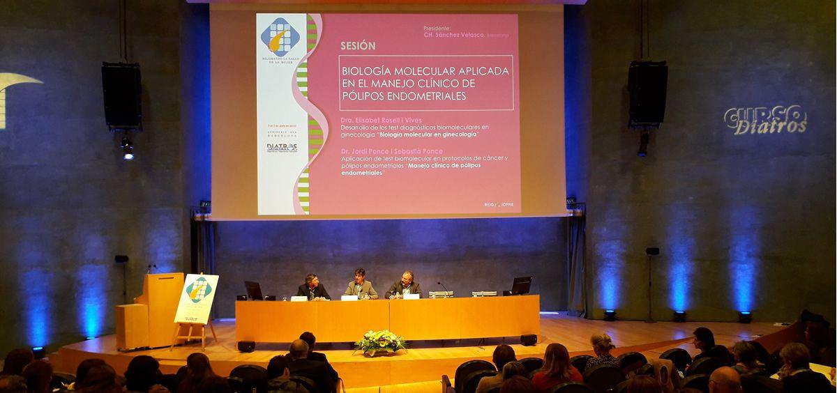 La doctora Elisabet Rosell y el doctor Jordi Ponce, durante sus exposiciones en el Curso Diatros.