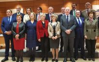 La ministra de Sanidad, María Luisa Carcedo, junto a los consejeros sanitarios en último pleno del Consejo Interterritorial.