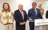 Consejeros de Sanidad del PP María Martín (La Rioja), Jesús Aguirre (Andalucía), Antonio María Sáez (Castilla y León), Enrique Ruiz Escudero (Madrid) y Manuel Villegas (Murcia).