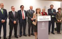 La ministra de Sanidad, María Luisa Carcedo, junto a diferentes consejeros sanitarios al término del último Consejo Interterritorial.