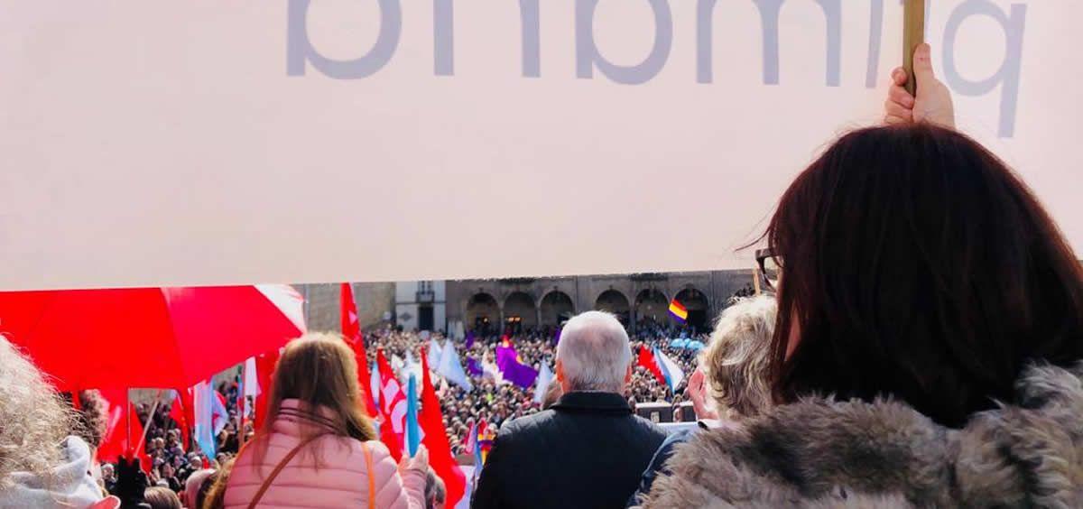 Una de las manifestaciones en defensa de la sanidad pública celebradas en Santiago de Compostela.