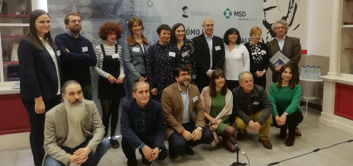 Periodistas y expertos en nuevas tecnologías durante la presentación del estdudio realizado por MSD y la Universidad de Nebrija