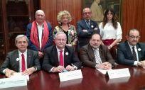 Representantes del Foro de Médicos de Atención Primaria, este jueves en la sede del Ilustre Colegio Oficial de Médicos de Madrid (Icomem)