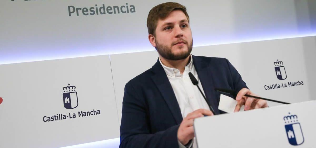 El portavoz del Ejecutivo de Castilla-La Mancha, Nacho Hernando, en rueda de prensa posterior al Consejo de Gobierno