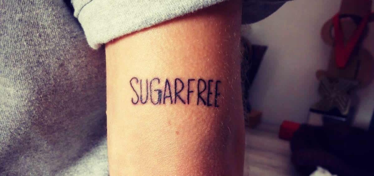 Tatuaje de Marina, una chica con diabetes desde hace unos tres años que decidió tatuarse 'Sugra free'