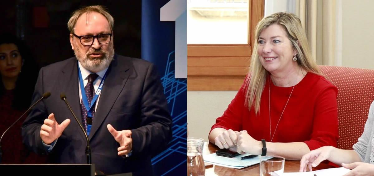 El CEO del Grupo Mediforum, Juan Blanco, y la consejera de Salud de Baleares, Patricia Gómez