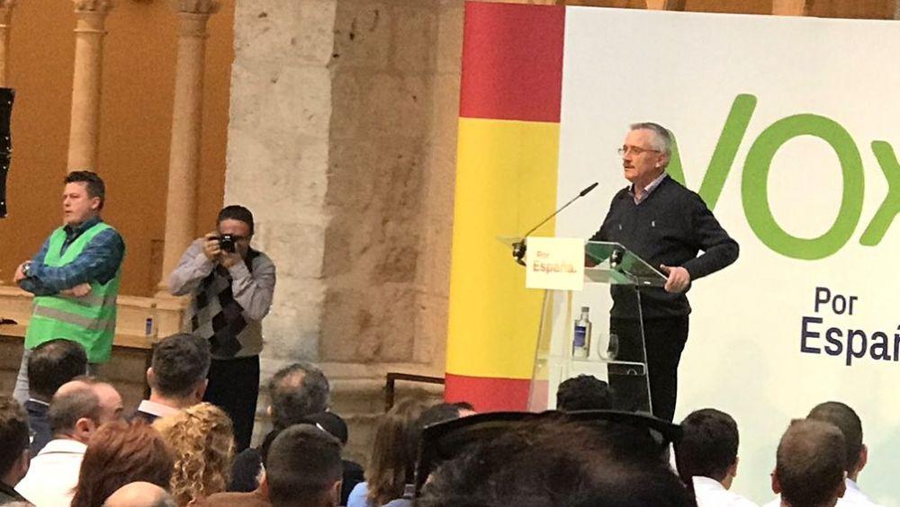 José Antonio Ortega Lara, durante un mitin de Vox.