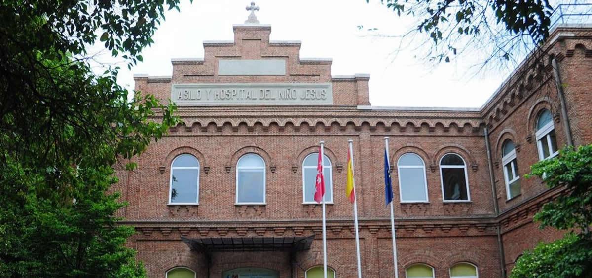Fachada del Hospital Niño Jesús de Madrid (Foto. Comunidad de Madrid)