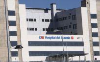 Fachada principal del Hospital del Sureste de Madrid.