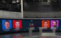 Imagen de RTVE sobre el debate de este lunes entre los distintos líderes políticos