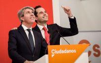 Ángel Garrido, ex presidente de la Comunidad de Madrid con el PP, junto a Ignacio Aguado, líder regional de Ciudadanos.