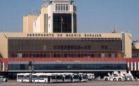 Fachada del Aeropuerto Madrid Barajas, una de las bases que ha tenido gran presencia en los dispositivos aéreos de trasplante