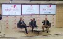 Iñaki Ereño, consejero delegado de Sanitas y Javier Rodríguez Zapatero, presidente de ISDI, durante la charla sobre Salud Digital
