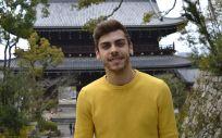 El número 1 del MIR, José Manuel Busto Leis, en su viaje a Japón después de presentarse al examen celebrado el pasado 2 de febrero.