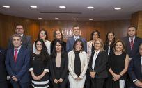 La nueva Junta de Gobierno del Colegio de Farmacéuticos de Huelga