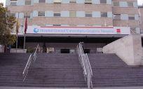 Fachada del Hospital General Universitario Gregorio Marañón, centro que recogerá en el proyecto GenObIA a pacientes con patologías respiratorias que están relacionadas con la obesidad