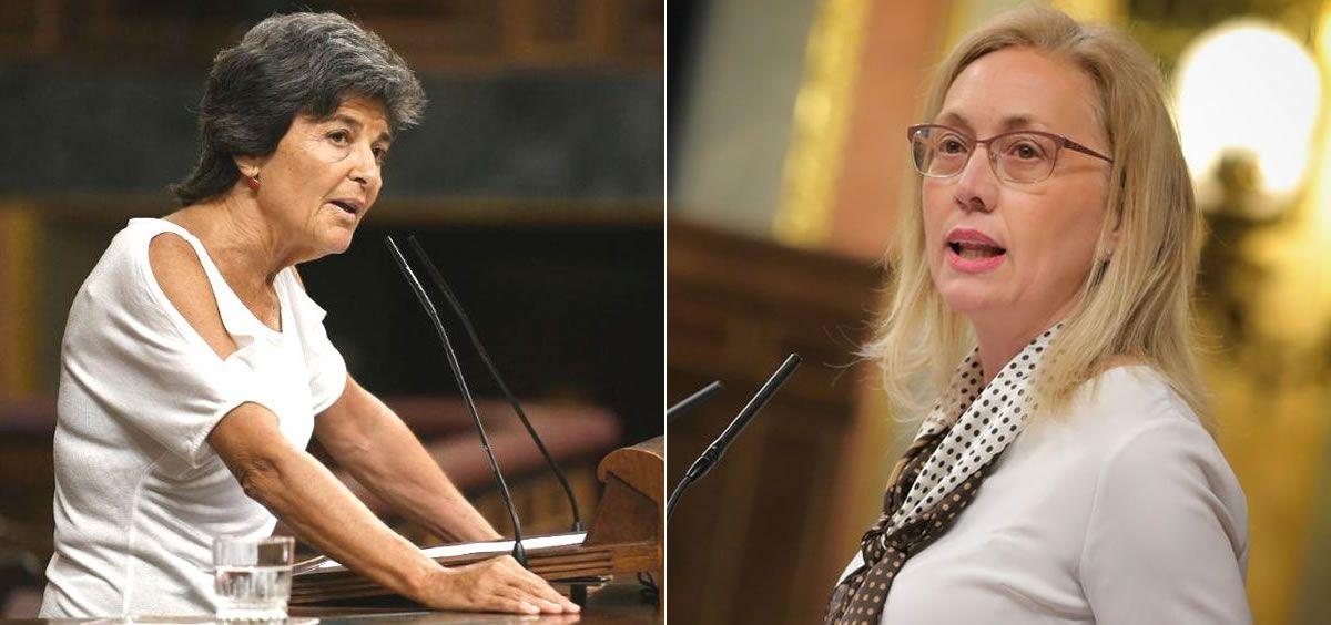 Amparo Botejara y Teresa Angulo, ex portavoces de Sanidad de Unidas Podemos y PP en el Congreso de los Diputados (Foto: ConSalud.es)
