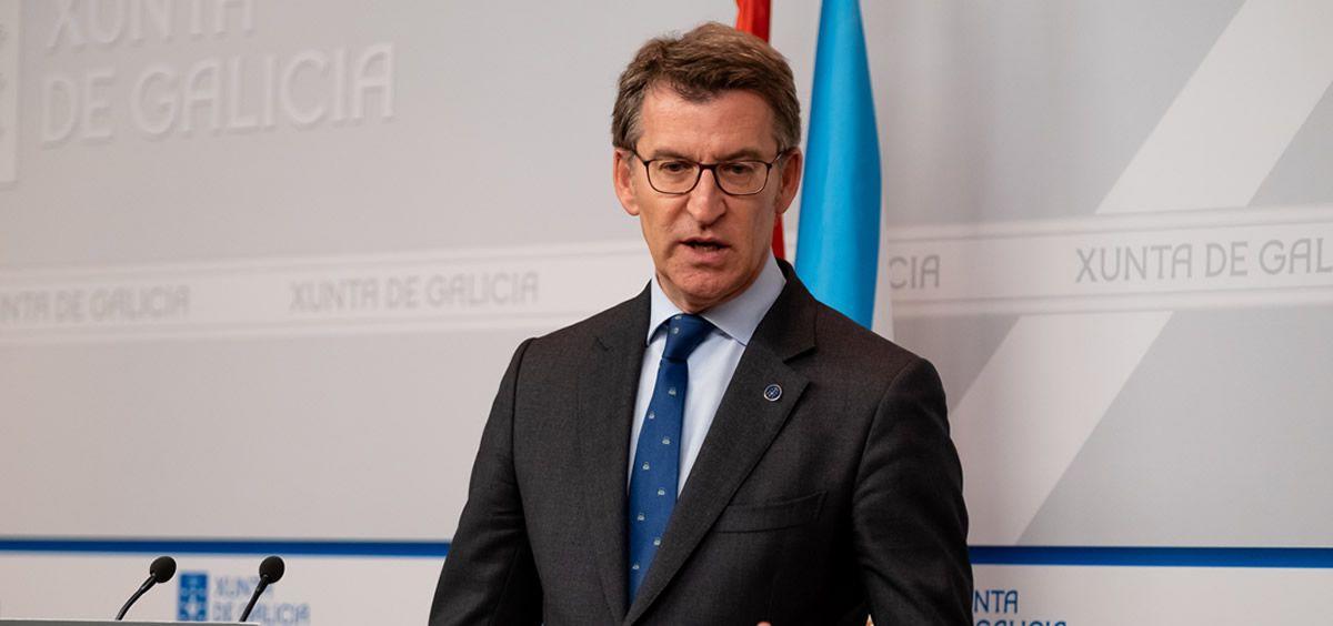 El presidente de la Xunta de Galicia y líder del PP gallego, Alberto Núñez Feijóo.