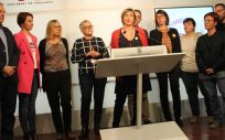 Alba Vergés durante la rueda de prensa en la que ha anunciado que el Parlament pedirá la regulación de la eutanasia